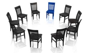 Psychotherapie - Die Selbsthilfegruppe blau schwarz